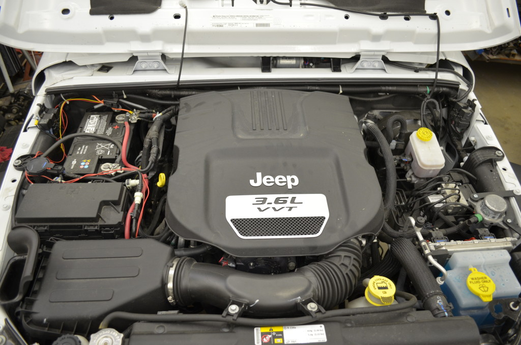 Under hood 2012 JKU 3.6 Pentastar