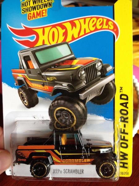 Black Jeep HotWheels Scrambler