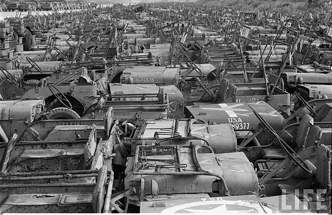 jeep graveyard okinawa jeeps military willys ww2 japan island wwii war 1949 vehicles trailer ford trailers insane cemetary bantam jpfreek