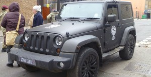 Chelsea Truck Company Jeep on set for Edge of Tomorrow