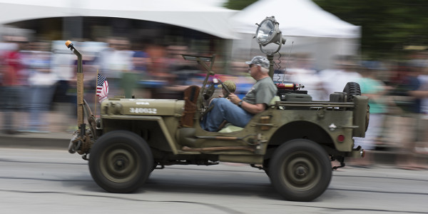 Jeep heritage was celebrated in a big way in the Jeep parade at Bantam with 2,400+ Jeeps
