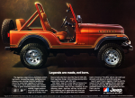 A print ad for a 1980 Jeep CJ (credit: Jeep)