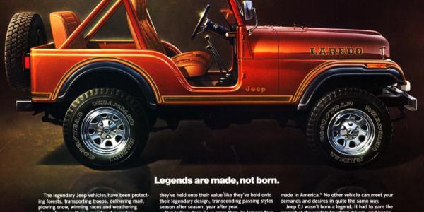A print ad for a 1980 Jeep CJ (credit: Jeep)