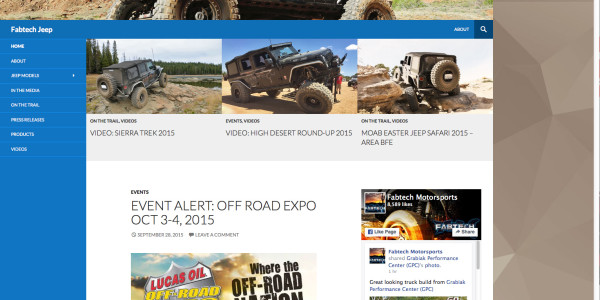FABTECH Jeep Website