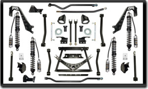 "ICON Vehicle Dynamics 4.5-6"" coilover conversion kit components"