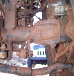 Broken Jeep axle housing resuly