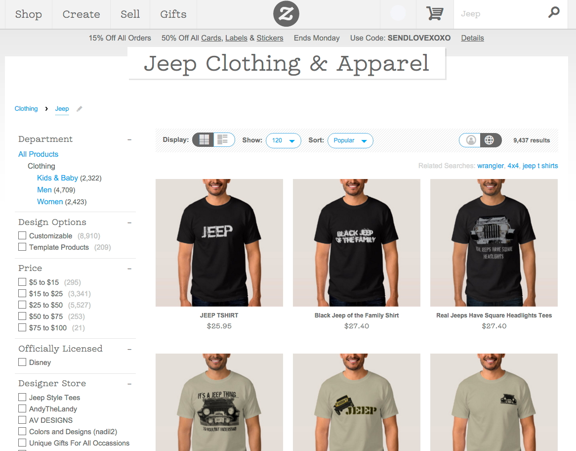 Design t shirt zazzle - Zazzle Jeep Search Sample