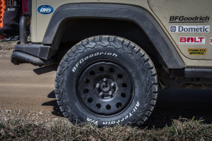 "BFGoodrich KO2 All-Terrain 34x10.5r17, Mopar Steel Wheels and AEV 2.5"" lift"