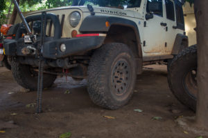 Using the Hi-Lift for a tire rotation