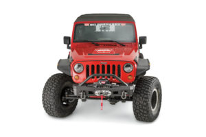Elite Series Stubby Front Bumper with Grille Guard Tube